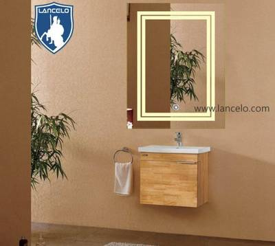 Hotel Frameless Illuminated Bathroom Vanity Wall LED Lighted Mirror