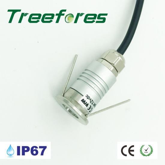Mini 12V 20mm LED Ceiling Light 1W IP67 Bathroom Lighting