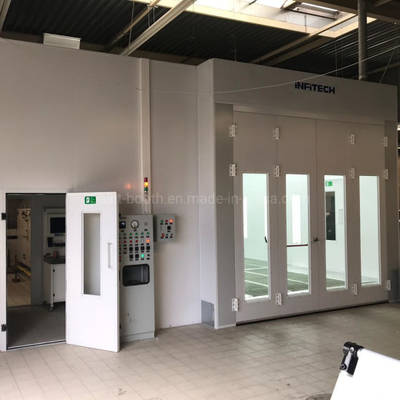 Infitech Downdraft Auto Refinish Car Spray Paint Booth for Vehicles