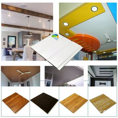 Pop Ceiling Tiles Design White Color Pvc Ceiling And Wall