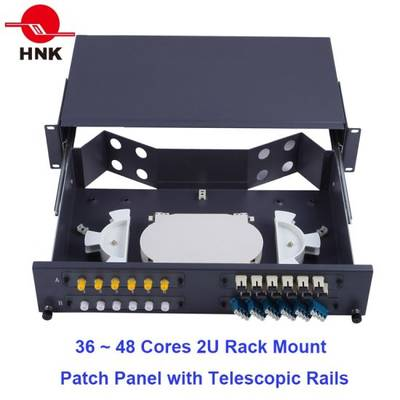 "24~48 Cores 19"" 1u/2u Fiber Optic Rack Mount Patch Panel ODF"