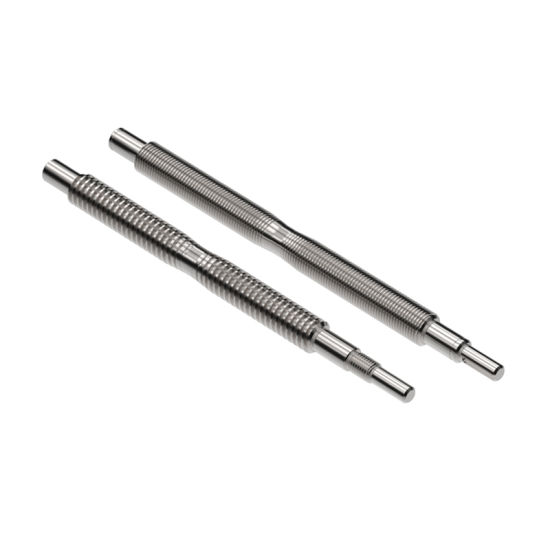 Precision Machining Stainless Steel Right and Left Hand Twin DC Motor Acme Lead Screw