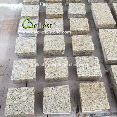 Sunset Golden Driveway Paving Stone with Bush Hammered Finish