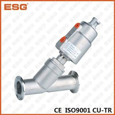 Tri-Clamp Ends Angle Seat Valve