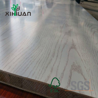 Wood Grain Melamine Laminated Particle Blockboard Blockboard From