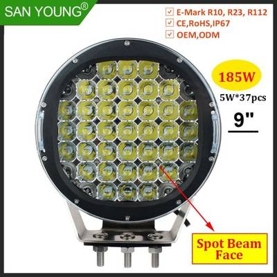185W LED Driving Light LED Headlight LED Spot Light LED Fog Light 9inch