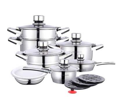 24PCS Wide Edge Cookware Set with bakelite handle