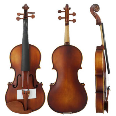 Muscial Instrument Satin Finish Student Boxwood Violin
