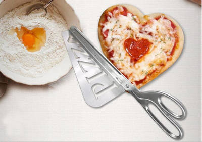 Solid Stainless Steel Pizza Cutter Scissor