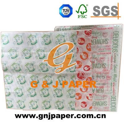 Top Quality OEM Brand Cmyk Printing Hamburger Packaging Paper