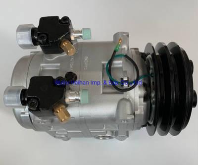 Auto Air Conditioner Piston Compressor with Clutch 12V