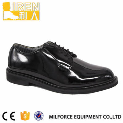 Micro Fiber Black Uniform Shoes