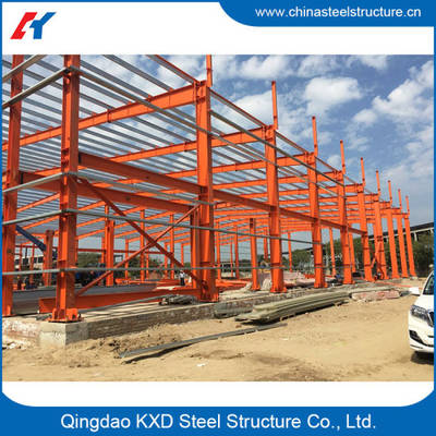 Prefabricated Building Light Portal Frame Metal Structural Steel Structure Shed Warehouse