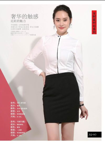 Women′s Long Sleeve Classic Fashion Shirt for Spring/Autumn with Button Opening