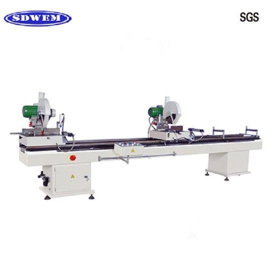 Double Mitre Cutting Saw Machine for White or Colorful UPVC Window Doors