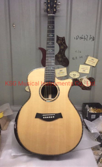 Ksg Guitar Factory Body Cut Chaylor 914ce Acoustic Guitar All Real Abalone Solid Top 914ce Electric