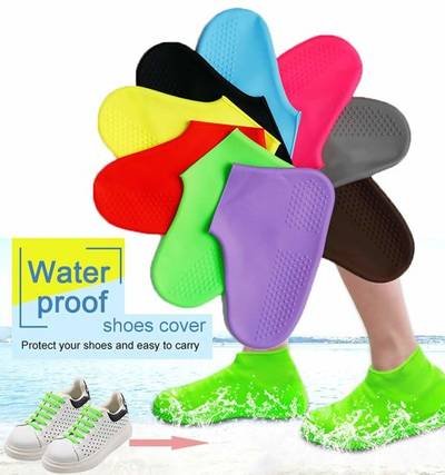 2*Overshoes Rain Waterproof Shoe Covers Boot Cover Protector Recyclable Great