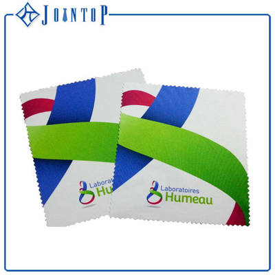 Zigzag Edge Customized Logo Printed Microfiber Cleaning Cloth