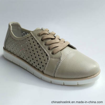 Popular Women′s Genuine Leather Flat Shoes