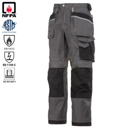 Twill Workwear Static-Free Flame Retardant Men Work Safety Cargo Pant