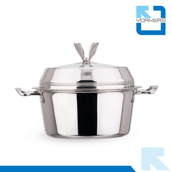 Fashion Stainless Steel Multi-Purpose Soup Pot & Steam Pot