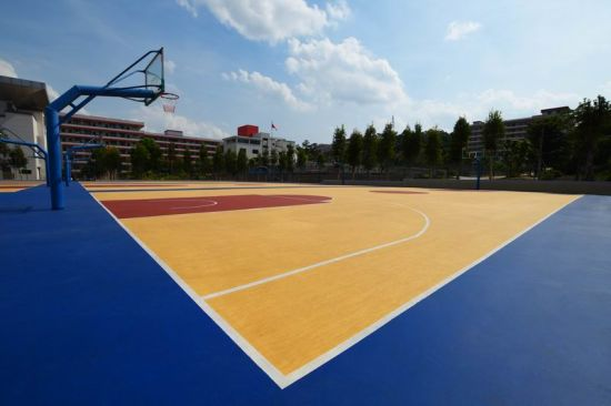 Professional Indoor Outdoor Silicon PU Basketball Courts for Sports Flooring