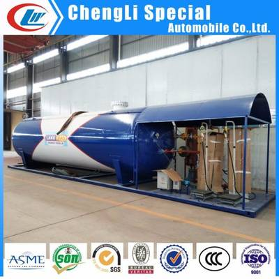 10tons 20000 Liters LPG Gas Filling Skid Station with Filling Scale or Dispenser