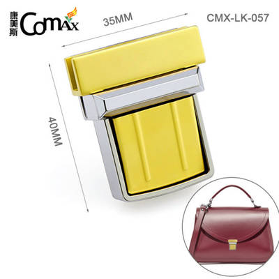 Fashion Double Colors Metal Press Lock for Wallet