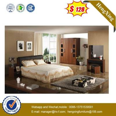 Modern Cheap Bedroom Furniture Sets Wooden Queen Size Double Bed