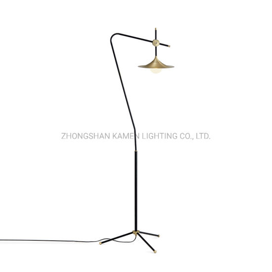Modern Minimalist Hotel Room Decoration Metal Glass Floor Lamp Km6009