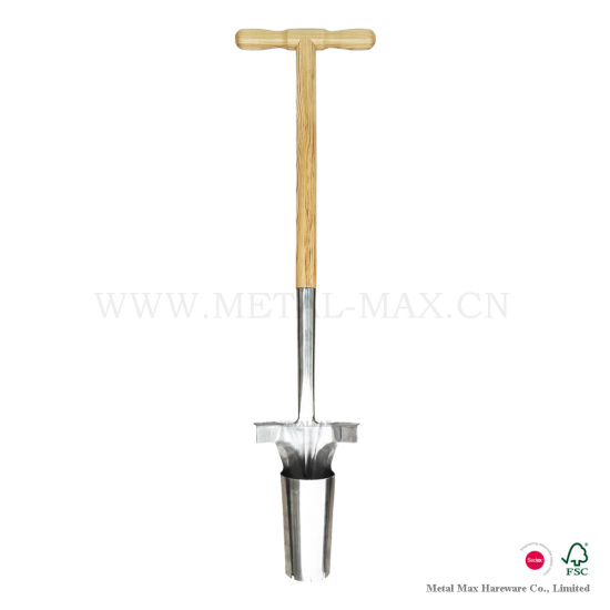 Outdoor Garden Hand Tools Step Tread Long Handled Grabbing Dirt Weeding Bulb Planter