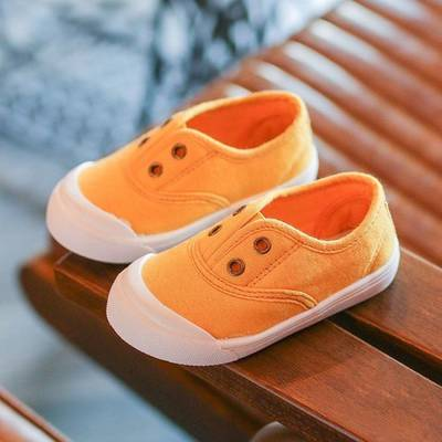 2019 Best Sell Candy Color Canvas Baby Shoes
