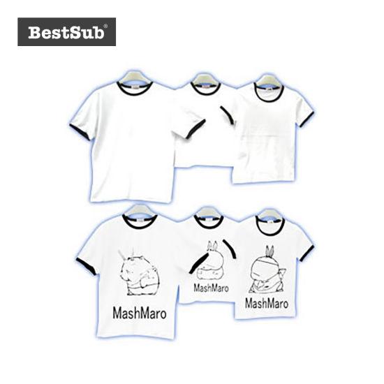 Bestsub Promotional Sublimation Parent-Child Attire T-Shirt Family Clothes (FMT)