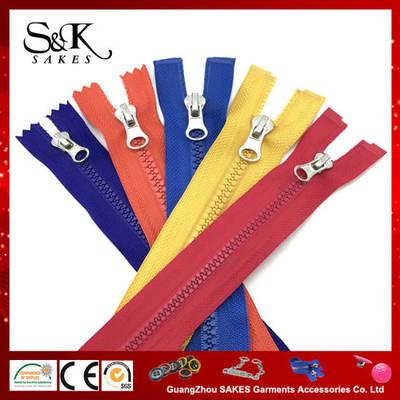 Colorful Fashion Plastic Zipper #5 Vislon Zipper for Jacket Front