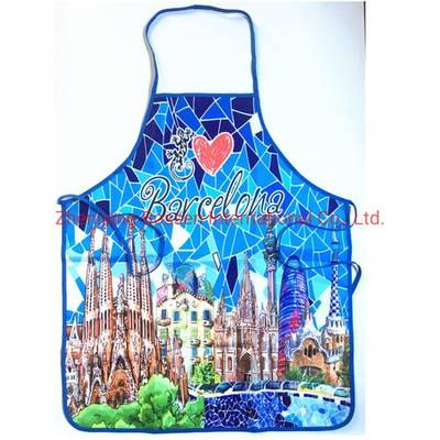 Customized Logo Print Cheap Promotional Polyester Bib Aprons