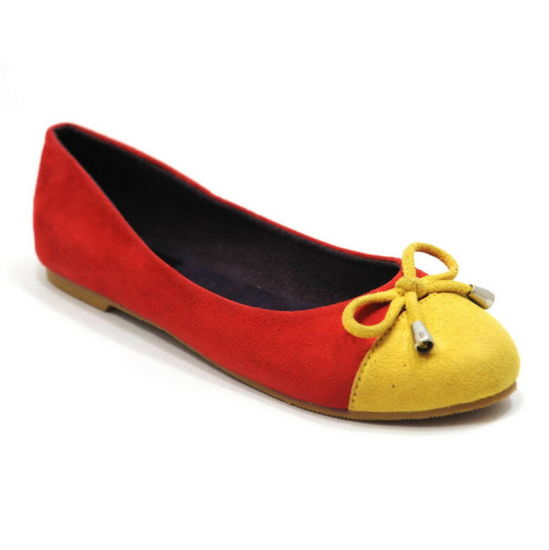 Fashion Fabric Suede Upper Casual Ballerina Shoes with Soft Insole