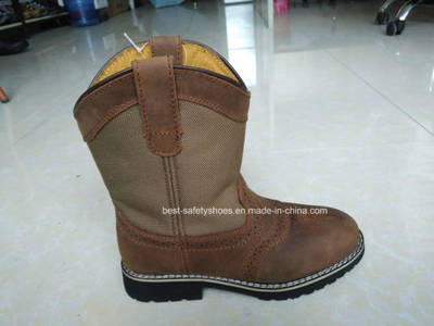 Full Horse Leather Child Boots with Rubber Outsole