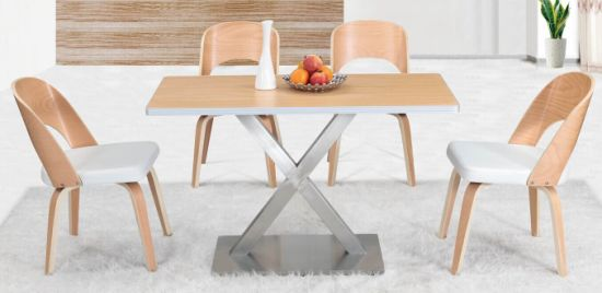 Imported Wood HPL Finish Cafe Coffee Shop Restaurant Furniture Set