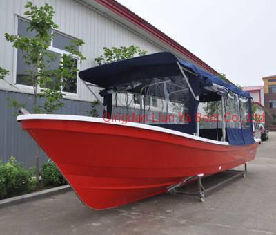 Liya 7.6m Passenger Boat Fiberglass Work Boat Hulls for Sale