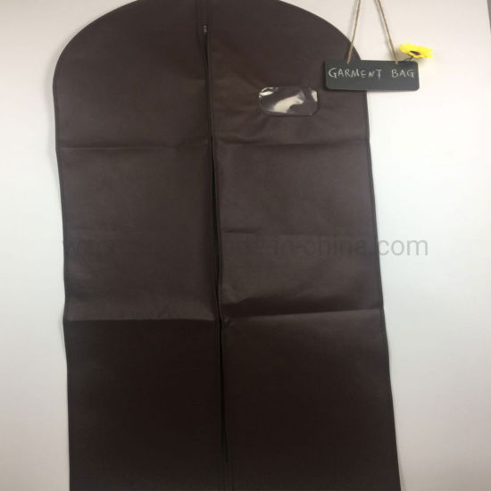 Side Zipper Foldable Clothes Cover Travel Storage Garment Suit B