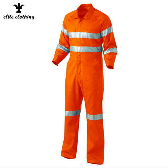 fluorescent Orange Men 3m Reflective High Vis Workwear