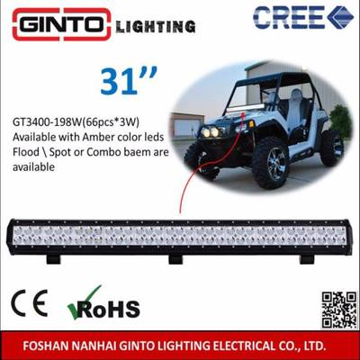 12V/24V CREE 31inch LED Light Bar for Offroad Driving (GT3400-198W)