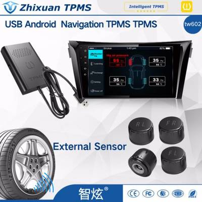 Professional Auto Universal TPMS Tire Pressure Sensor Tire Pressure Monitoring System with APP Show