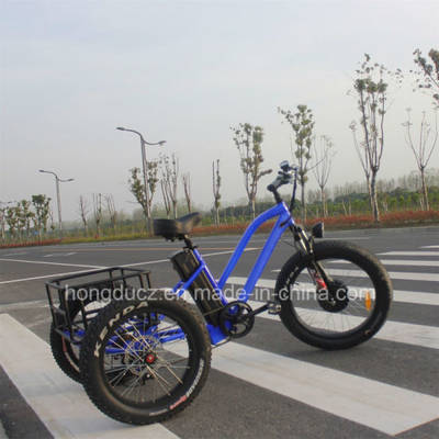 48V 500W Fat Tire Electric Cargo Tricycle with Pedal