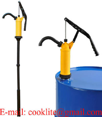Action Pump P-490s PP (Polypropylene) Lever Action Piston Drum Pump with Stainless Steel Rod