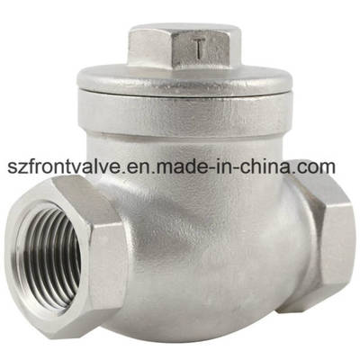 Precision Casting Stainless Steel Threaded Swing Check Valve