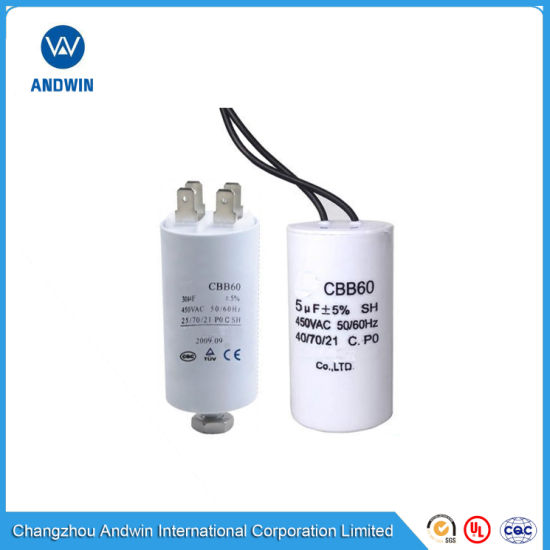 AC Motor Run Capacitor Cbb60 25UF 450VAC for