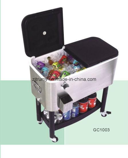 Beverage Cooler Cart for Camping