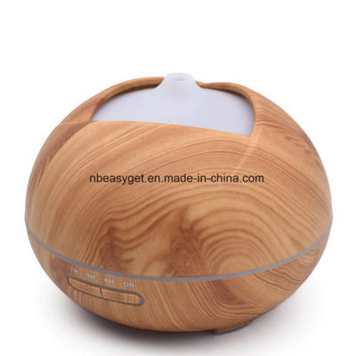Essential Oil Diffuser, 400ml Aroma Wood Grain Ultrasonic Cool Mist Humidifier with Adjustable Mist
