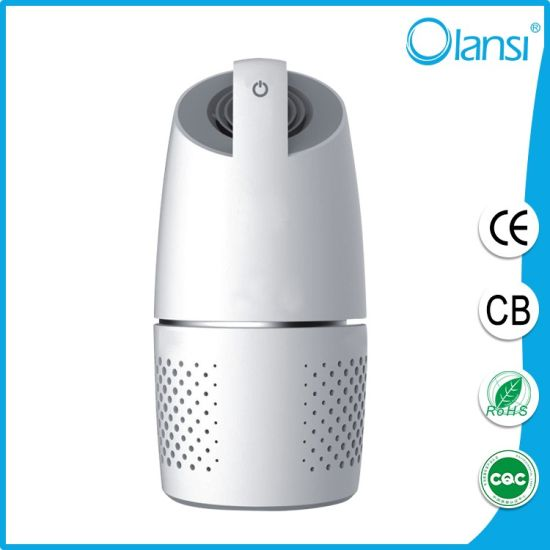 Portable Smart Design Mini Air Purifier with HEPA Filter with OEM for Car Inside Use Made in China F
